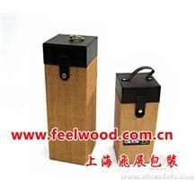 10月份现货  特价热卖 PU高档红酒盒,皮质包装红酒盒(2012年) 中秋红酒盒