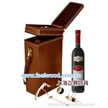 皮质酒盒、单、双瓶套装皮酒盒,皮质红酒盒 10月特技  现货热卖