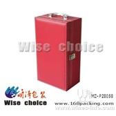 【现货】红酒皮盒 葡萄酒皮盒 双支红酒盒