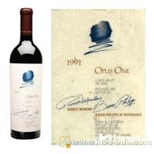 美国第一号作品红酒 opus one