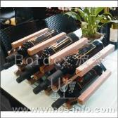 波多酒架 波多新型C网形红酒架 实木酒架