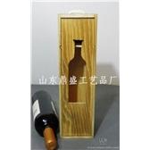 单只仿古木盒红酒包装盒
