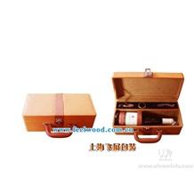 4月份现货  特价热卖 PU高档红酒盒,皮质包装红酒盒(2013年) 红酒盒