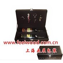 4月特价  现货批发皮质单支酒盒、高档PU皮红酒包装盒、上海飞展红酒皮盒  2013年