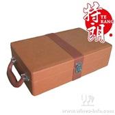 十字纹双支红酒包装皮盒/红酒皮盒/义乌纸盒皮盒厂家/现货皮盒