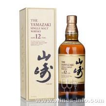 山崎12年单一麦芽威士忌(日本)山崎纯麦12年威士忌洋酒(日本第一瓶)