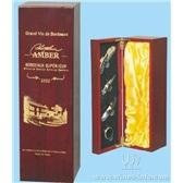 32.红酒包装盒 葡萄酒盒 单瓶装红酒木盒 单支哑光红木盒Q002