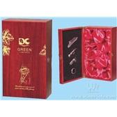 35.红酒包装盒 葡萄酒盒 双瓶装红酒木盒 双支哑光红木盒Q005