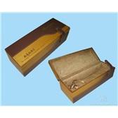 40.红酒包装盒 葡萄酒盒 单瓶装红酒木盒 单支皮饰红木盒Q010