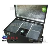 黑色六只红酒皮盒保温六只葡萄酒皮盒