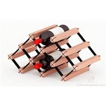 波多实木创意A网型红酒架 葡萄酒架 可定制酒架