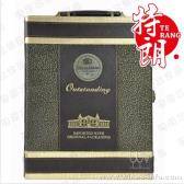 西瓜纹双支酒盒皮盒/高档红酒皮盒/现货酒盒/义乌酒盒/红酒包装皮盒纸盒木盒