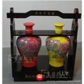 陶瓷瓶白酒盒/原浆白酒架/白酒礼盒/白酒木盒/曹县盛鼎工艺品厂