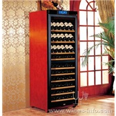 美晶实木恒温酒柜简约系列W330B(双温区)