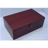 双支油漆酒盒/亚光亮光高光油漆红酒盒/油漆盒厂家直销