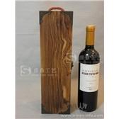 炭化红酒木盒单支复古酒盒