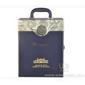 新款促销双支红酒包装皮盒/高档双支酒盒/义乌酒盒厂家/现货礼品盒子