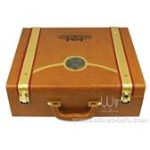 现货单排四支红酒皮盒/高档新款葡萄酒4支pu皮盒/定制皮盒礼品盒交房盒厂家直销