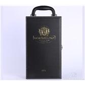 长期现货供应黑色双瓶装红酒皮盒