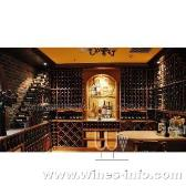 供应别墅地下室酒窖设计 实木酒架 红酒展示架 酒窖工程