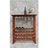 24瓶红橡木实木红酒架 多功能红酒展示架 葡萄酒架 家用酒架吧台