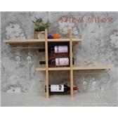 壁挂酒架 酒杯架餐边置物架实木酒柜 吧台红酒架 酒柜壁挂红酒架