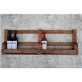 欧式壁挂中国橡木实木酒架葡萄酒红酒甁架吧台置酒架挂墙酒架