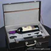 百诣干电池电动开瓶器4件套单支红酒酒箱BY713