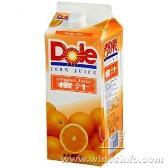 专业批发都乐100%橙汁1.8L装饮料