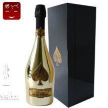 上海香槟专卖、黑桃A香槟(原装黄金版钢琴烤漆礼盒】