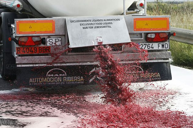 法国南部再次发生抵抗西班牙廉价酒活动