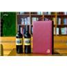 芯锐轻奢皮盒新款双支红酒包装皮盒定制通用葡萄酒礼品包装