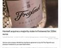 德国Henkell收购西班牙最大起泡酒企Freixenet