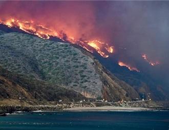 加州大火摧毁马里布海岸葡萄酒产区