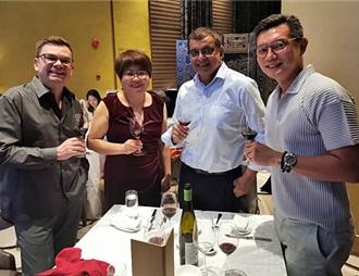 迦南美地酒庄在新加坡举办品鉴会 扩大出口版图
