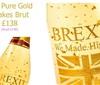 一法国公司制作出售金箔脱欧庆典酒