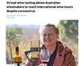 西澳葡萄酒商直播品酒 吸引4000名中国消费者观看