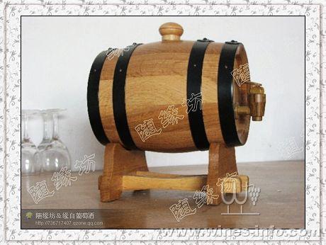 橡木桶*1.5l标准式(原色)*自酿葡萄酒专用*工艺品