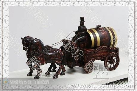 橡木桶*1.5l双马拉四轮车桶*自酿葡萄酒专用*工艺品