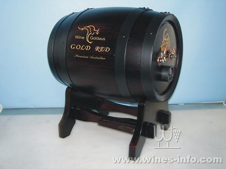 澳洲贵族---金澳红4l木桶装:中国葡萄酒资讯网