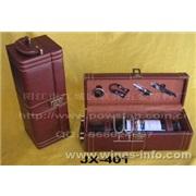 JX-401  4件单瓶高级皮盒红酒套装(红酒)