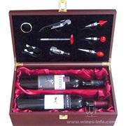 木制红酒包装礼盒(8件套)