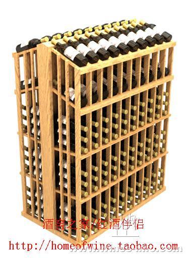 木制酒架/红酒架/实木酒架/葡萄酒架/展示岛柜3