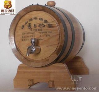 5l内胆不锈钢龙头橡木桶-雕刻图案-红酒外衣-酒具