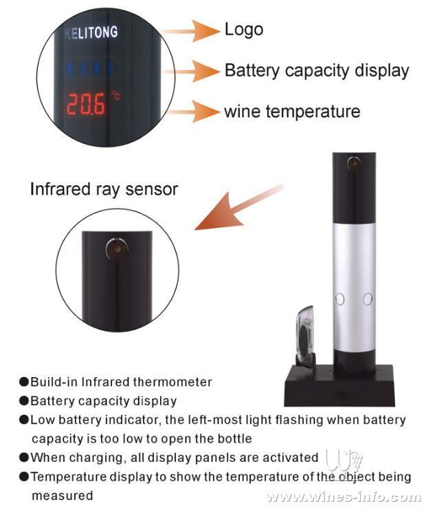 促销出口欧美红外线测温 充电式电动开瓶器 全国包快递