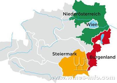 奥地利产区地图