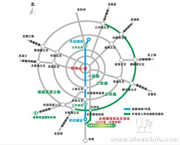 成都2号线地铁路线图