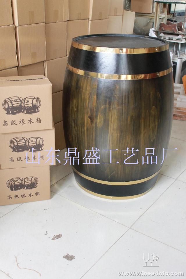 木酒桶装饰红酒木桶橡木酒具酒窖橡木桶松木红酒大