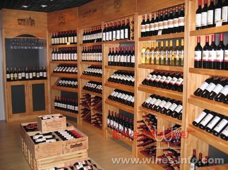 实木红酒酒架酒柜 葡萄酒陈列展示架