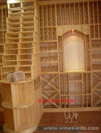 木质酒架酒柜 别墅酒窖装修设计
